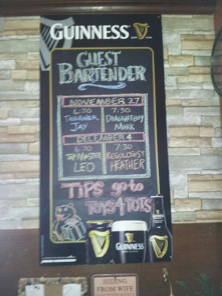 Guest Bar Tender Line Up